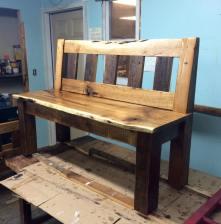 olive bench