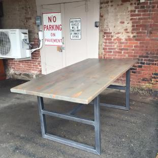 table with metal frame